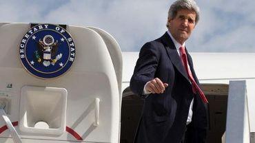 Le secrétaire d'Etat américain John Kerry quitte Israël le 1er avril 2014