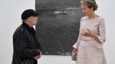 Dirk Braeckman et la Reine Mathilde