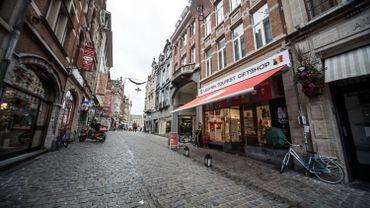 Une rue commerçante de Leuven