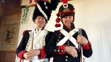 Séraphino Marcazzani et Thierry Norman sont très impatients d'être à la bataille de Waterloo