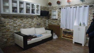 La cellule du trafiquant de drogue brésilien Chimenes Pavao, emprisonné au centre de détention de Tacumbu, le 28 juillet 2016
