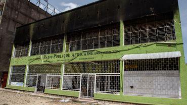 Le bâtiment de la Radio Publique Africaine (RPA) le 15 mai 2015.