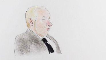 Anders Behring Breivik dessiné pendant sa comparution au tribunal à Oslo le 18 novembre 2011
