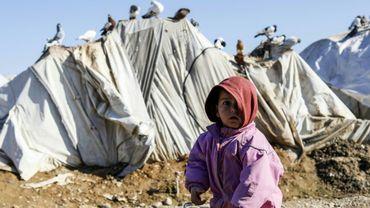 Un enfant syrien dans le camp de déplacés d'Abou Al-Khashab, dans la province de Deir Ezzor, le 10 janvier 2019