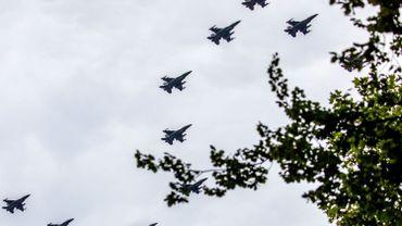 Une vingtaine de décollages d'alerte pour les F-16 belges en Lituanie