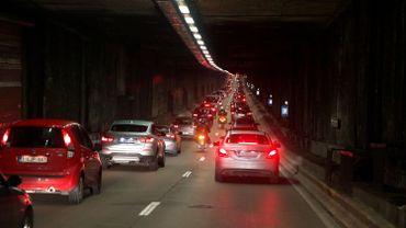 Vue de l'intérieur d'un des tunnels les plus fréquenté de la capitale