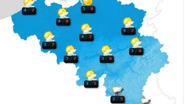 Météo: risque de plaque de glace dès 18h, surtout sur une moitié Est du pays