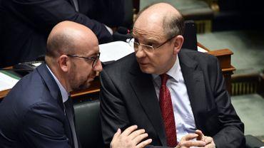 Le Premier ministre Charles Michel (MR) et le ministre de la Justice Koen Geens (CD&V)