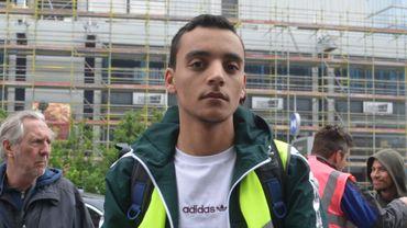 Mehdi pendant la manifestation pour le climat du 2 mai