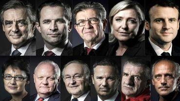 Candidats à la présidentielle française, 23 avril 2017