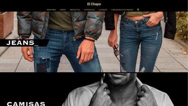Le one-page du site web montre les différentes gammes de vêtements