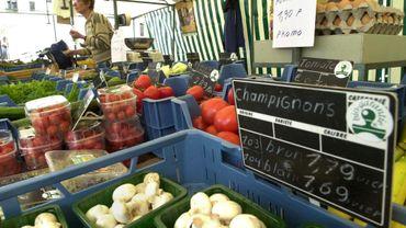 Un marché bio en Région bruxelloise