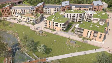 Le futur quartier de Courbevoie, à Louvain-la-Neuve, comprendra 450 logements, 8500 m² de bureaux ainsi qu'une crèche et un parc d'un peu moins de deux hectares.