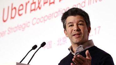 Travis Kalanick, créateur de l'application Uber, le 17 décembre 2014 à Pékin