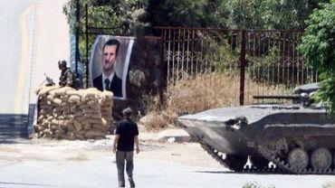 Check point de l'armée syrienne dans le Nord du pays, à Jisr al-Shughur, le 20 juin 2011
