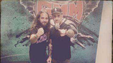 Cyril Wilfart et Scott Ian d'Anthrax