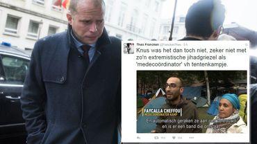 """Theo Francken qualifie Fayçal Cheffou de """"djihadiste extrémiste répugnant"""""""