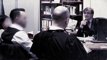 Le juge d'instruction Paul Dhaeyer lors d'un interrogatoire.