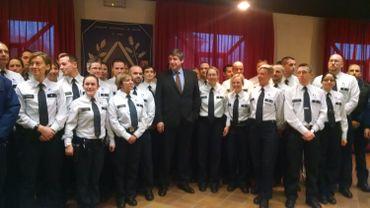 Le ministre de l'Intérieur était en visite à l'Académie de Police de Jurbise ce 20 janvier 2015