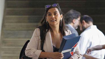 Izkia Siches, avant une réunion au palais présidentiel à Santiago, le 24 mars 2020.