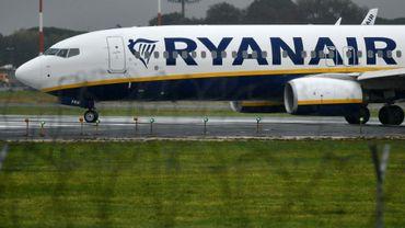 Un avion Ryanair sur le tarmac de l'aéroport de Rome, le 15 décembre 2017