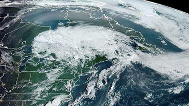 Image satellite de la tempête Isaias le 5 août 2020, obtenue auprès l'Agence américaine d'observation océanique et atmosphérique (NOAA)