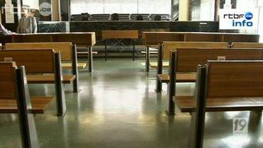 Salle d'audience du tribunal correctionnel de Charleroi