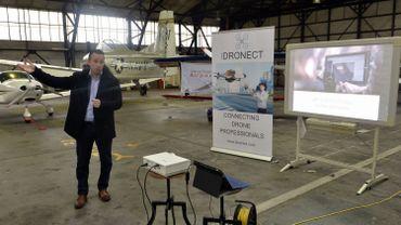 Tom Verbruggen, CEO d'Idronect lors du lancement de la plate-forme, le 2 février à Saint-Trond.