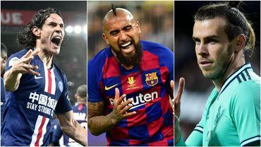 Cavani, Vidal et Bale