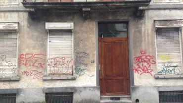 La maison de la rue de la Croix, à Ixelles, vide depuis des années