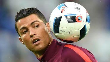 L'attaquant international portugais Cristiano Ronaldo, le 14 juin 2016 à Saint-Etienne, France