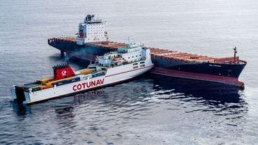 Un navire tunisien s'est encastré dimanche dans un porte-conteneur chypriote à 28 km du cap Corse
