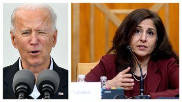 Joe Biden et Neera Tanden