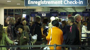 L'enregistrement pour l'Eurostar à Bruxelles-Midi en 2014