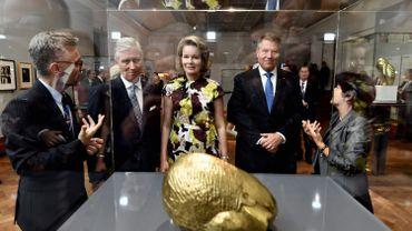 Le Roi, la Reine et le président roumain Iohannis ont inauguré Europalia