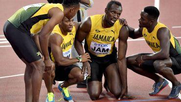 Usain Bolt s'était blessé ... en séries du 4x100m