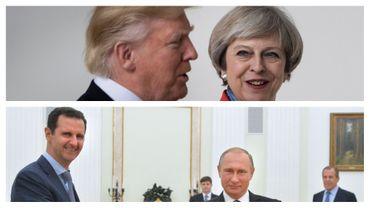 Syrie: Trump et May veulent convaincre Moscou de ne plus soutenir Assad