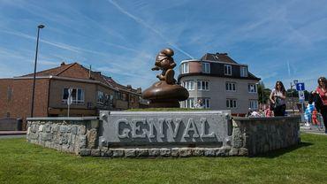 Un Schtroumpf de bienvenue à Genval
