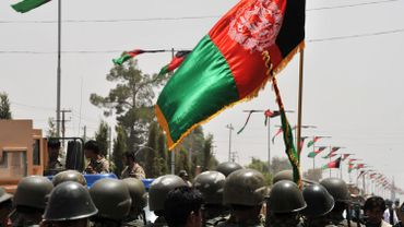 Soldats afghans à Lashkar Gah le 20 juillet 2011