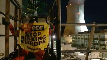 Des militants de Greenpeace introduits en novembre dans la centrale nucléaire de Cruas-Meysse le 28 novembre 2017
