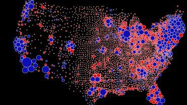 Elections américaines : la carte qui change le regard sur les résultats des républicains et des démocrates