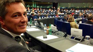 Hugues Bayet lors d'une session du parlement européen