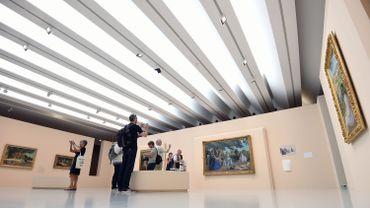 Jean-Michel Meurice, proche de Pierre Soulages, expose au Musée Fabre de Montpellier à partir de samedi une quarantaine d'oeuvres élégantes et radicales