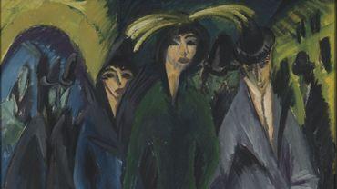 Ernst Ludwig Kirchner, Femmes dans la rue, 1915, huile sur toile, 126 x 90 cm, Von der Heydt-Museum Wuppertal, Allemagne, inv. G 681, © VG Bild-Kunst