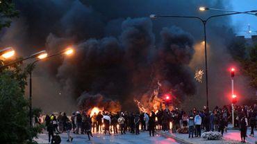 Heurts entre manifestants et police, le 28 août 2020 à Malmö, en Suède
