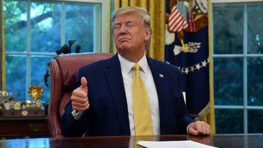Le président américain Donald Trump dans le Bureau ovale de la Maison Blanche, à Washington, le 11 octobre 2019
