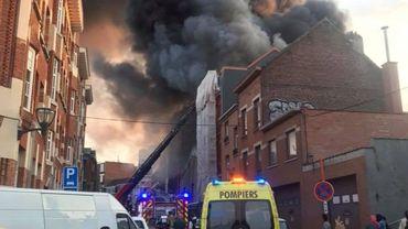 Incendie à Koekelberg