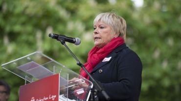 Isabelle Simonis, ministre de l'Egalité et des chances à la Fédération Wallonie-Bruxelles