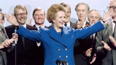 Margaret Thatcher alors Premier ministre en 1989