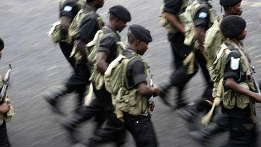 Des policiers en RDC